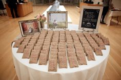 """""""Perfect Blend Coffee Beans"""" reception gifts at the rustic southern charm themed Kim wedding reception in Nasher Garden"""