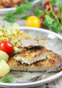Pork chops with mayonnaise. Mayonnaise, Pork Chops, Salmon Burgers, Chicken, Dinner, Ethnic Recipes, Food, Per Diem, Good Food
