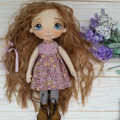 Купить Молли. Коллекционная кукла ручной работы. - бежевый, коллекционная кукла, интерьерная кукла ♡