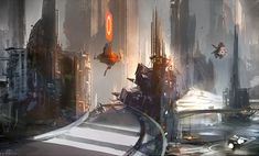 Nicolas Bouvier, a. Sparth has been an active artistic director and concept designer in the gaming industry since Alien Concept Art, Concept Art World, Environment Concept Art, Concept Art Tutorial, Futuristic City, Concept Ships, Cyberpunk Art, Matte Painting, Science Fiction Art