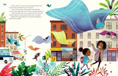 Islandborn by Junot Díaz, illustrated by Leo Espinosa Environment Painting, New Children's Books, Kid Books, Leo, Book Projects, Children's Book Illustration, Book Illustrations, Childrens Books, Illustrators
