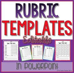 This is a set of 5 different blank rubric templates that you can edit through Powerpoint! You can customize your rubric to your liking by typing in all of the information for your assignment.