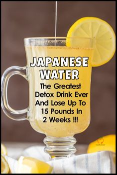 Japanese Water – The Greatest Weight Loss And Deto. - Japanese Water – The Greatest Weight Loss And Detox Drink Now we're going to show you how to m - Water Recipes, Detox Recipes, Smoothie Recipes, Smoothie Detox, Free Recipes, Diet Drinks, Healthy Drinks, Healthy Detox, Beverages