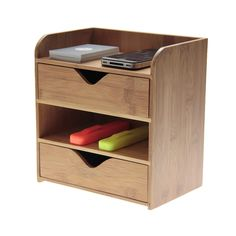 This Bamboo 4 Tier Desk Organiser is a perfect solution for storing your stationery, notes, cards and tools, keeping them neat and tidy either at home or in the office.Two fully-sliding drawers sit in the base of the stationery organiser. You can set drawers in different ways to organise your office stationary as you used to.This Desk Organiser is a perfect clutter free solution. But If you need more space, then get rid of stuff you already have to make room.Four compartment design - for…