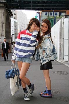 Street style at Tokyo Fashion Week.