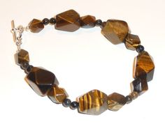 Tiger's Eye Bracelet by FiberandBeadBoutique on Etsy