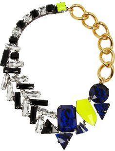 Swarovski VICKISARGE Pow! gold-plated crystal necklace on shopstyle.com