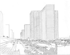 """""""Plan Voisin"""" que convertiría el centro de París en... bueno, en esto :) LeCorbusier, 1925"""