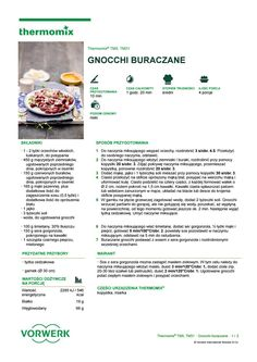 Gnocchi buraczane Healthy Food, Healthy Recipes, Gnocchi, Make It Simple, Food And Drink, Veggies, Drinks, Cooking, Kitchen