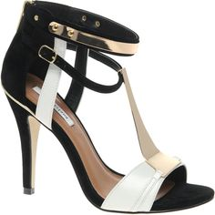 blackwhite river island taffy t-bar heels