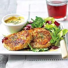 Salmon - Potato Cakes (use with leftover mashed potatoes)