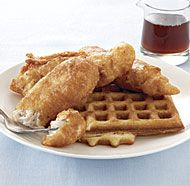 Beer-Batter Chicken and Waffles
