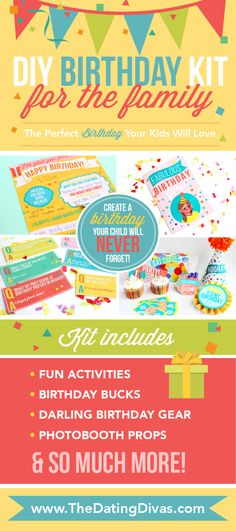 Family and Spouse Birthday Celebration Kits from The Dating Divas