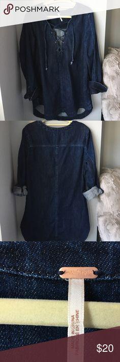 Never worn FREE PEOPLE DENIM jean dress SIZE SMALL BLUE DENIM FREE PEOPLE JEAN DRESS. Free People Jeans