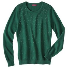 You'll be holiday party ready with this studded sweater
