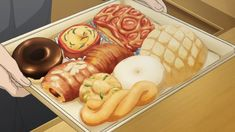 Assorted pastries and breads (melon pan, danish, doughnuts, croissant…)! Sukitte ii na yo, Episode 1