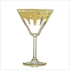 Arte Italica Vetro Gold Martini Glass