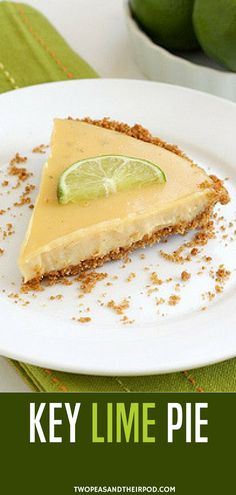 This Easy Key Lime Pie with a simple graham cracker crust is a dessert favorite! It is perfectly tart, creamy, and smooth! It is a especially delicious dessert during the summer months. This dessert screams summer! Fun Easy Recipes, Pie Recipes, Dessert Recipes, Amazing Recipes, Keto Dessert Easy, Pie Dessert, Ketogenic Diet, Homemade Graham Cracker Crust, Keylime Pie Recipe