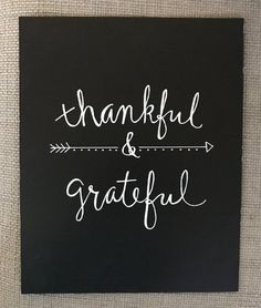 Thankful & Grateful chalkboard art print 8x10 frameable | Etsy...