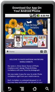 Cake and balloon birthday invitation kids birthday invitations mobile app for ordering birthday invitations filmwisefo