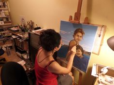 This is my latest commissioned portrait artwork. Work in progress.