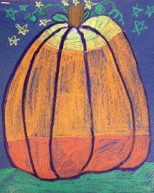 Fall or Halloween Art: 1st or 2nd Grade Value Pumpkins