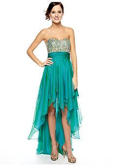 Be by Jay Reynolds Strapless Beaded Gown #belk #prom