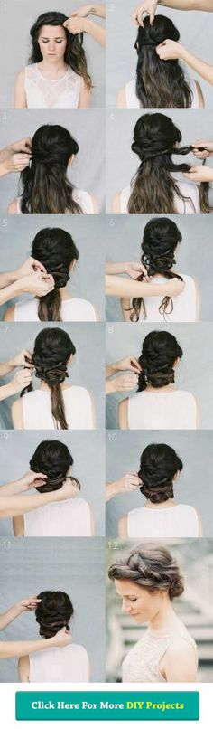 #DIY Updo #Hair #Style - I love this tutorial !!