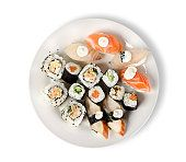 Foto de Comida De Sushi Maki e mais fotos de stock de Sushi - iStock Food Poster Design, Oatmeal, Rolls, Plates, Breakfast, Sushi Rolls, The Oatmeal, Licence Plates, Morning Coffee