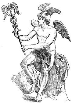 Hermès est le fils de Zeus et de Maia, l'aînée des Pléiades. Il était le dieu du commerce, le gardien des routes et des carrefours, des voyageurs, des voleurs, le conducteurs des âmes aux Enfers et le messager de Zeus et des dieux.