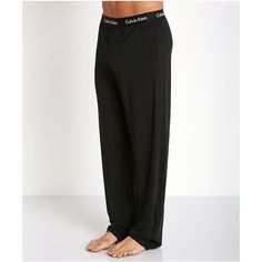 Calvin Klein Body Modal PJ Pants Black ($42) ❤ liked on Polyvore featuring intimates, pj pants and calvin klein