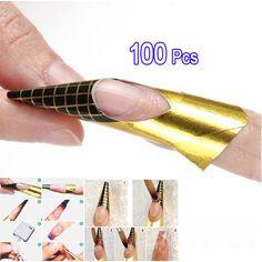 100 Formas de Uñas de Acrílico UV Gel Consejo de Extensión Del Arte Del Clavo A Estrenar