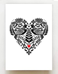 New Zealand Tui bird black and white heart with bright Art And Illustration, Illustrations, Graphic Design Illustration, New Zealand Tattoo, New Zealand Art, Tui Bird, Bird Stencil, Damask Stencil, Stencil Patterns