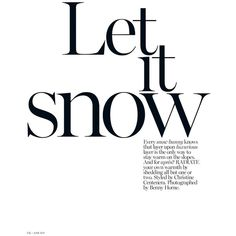 Love The Different Sizeles With Offset Column Body The Ndgals Fonts Typography Carolina Reese Photography Pinterest Vogue A