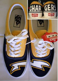 san diego chargers custom vans. I could totally paint these! #pac12