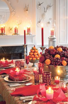 Thanksgiving or Christmas. Interior by Carolyne Roehm.
