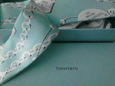 90465e088cc6 NEW Tiffany   Co Silk Scarf Sash Tiffany Blue