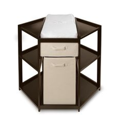 Badger Basket Corner Changing Table W/ Hamper & Basket