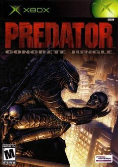 """Help Scarface, a disgraced predator, reclaim his stolen technology and stop the threat against Predators in """"Predator: Concrete Jungle"""" #xbox #action #technology #war"""