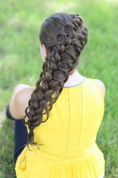 I cant wait to try this one! Looks like it will hold up better than the bow braid. Cool Braid Hairstyles, Cute Girls Hairstyles, African Hairstyles, Pretty Hairstyles, Hair Updo, French Hairstyles, Hairstyles Pictures, Tomboy Hairstyles, Woman Hairstyles