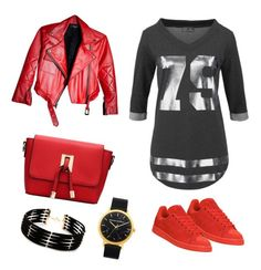 """Look para el lunes!!"" by luciaysuscositas on Polyvore featuring adidas and Forever 21"