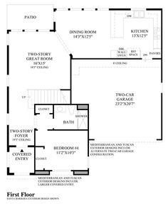 Toll Brothers Baker Ranch Parkview Yosemite Floor Plan - First Floor
