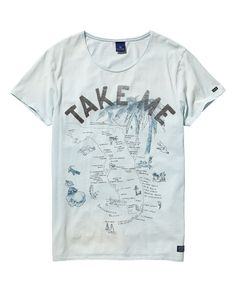 T-shirt met vintage wash - Scotch&Soda