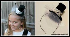 DIY Mini Top Hat Headband Tutorial Headband Tutorial, Diy Headband, Diy Tutorial, Diy Fashion, Fashion Trends, Legs, Mini, Tutorials, Hat