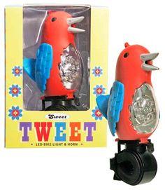 Sweet Tweet Bicycle Light - Red at Streamline NYC