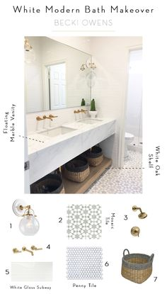 Today I am excited to share our Arboles Project Bathroom, a beautiful modern marble space emphasizing clean-lines and efficiency.