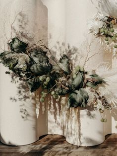 See the full coastal wedding with dried floral sculptures on thelane.com now Wedding Night, Our Wedding Day, Zara Home Vase, Sicily Wedding, Warehouse Wedding, Alternative Wedding, Wedding Locations, Dried Flowers, Garden Wedding