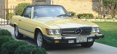 81' Mercedes Convertible, this color, black, red, or pastel blue.