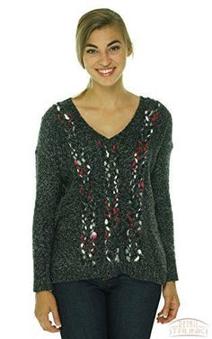 Kensie Womens Knit Marled Pullover Sweater