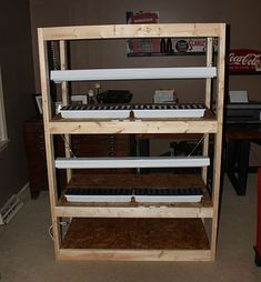 How To Build An Indoor Seed-starting Rack - Cheap!
